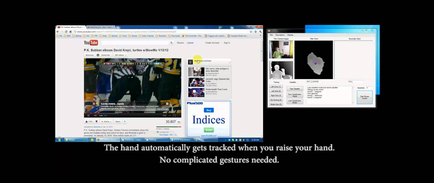 Winect – Control Windows' Cursor with Kinect | Kinect Hacks