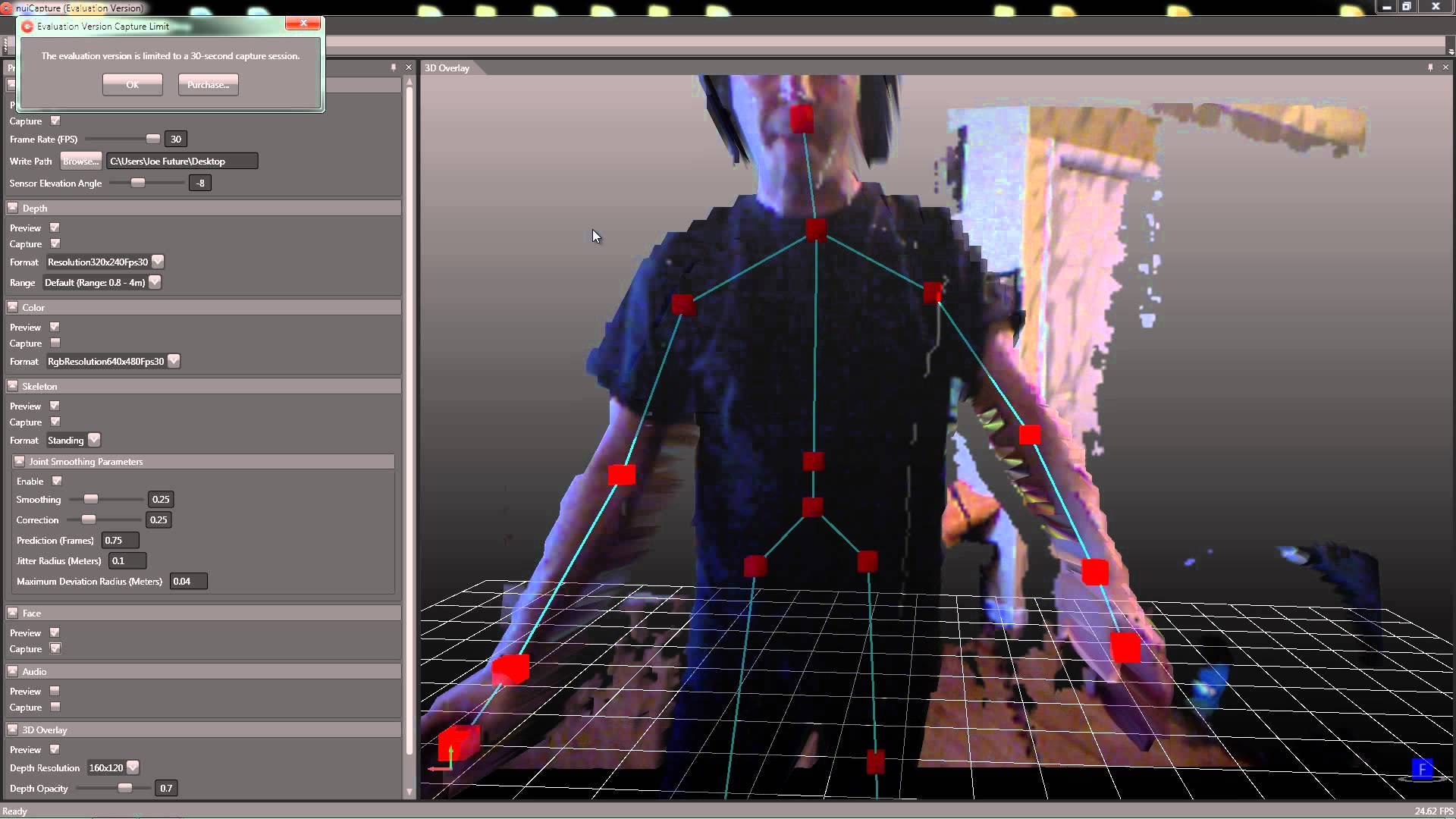 NuiCapture — Kinect-powered 'markerless' motion capture